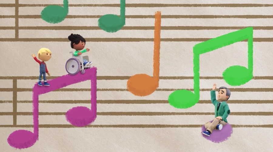 mister rogers google doodle musical notes
