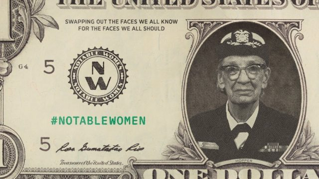 Notable Women, an AR app that adds 100 historic American women to U.S. currency
