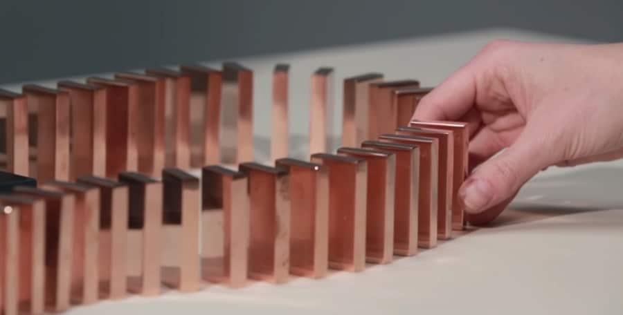 copper dominoes