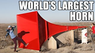 Shattering glass with the World's Largest Horn
