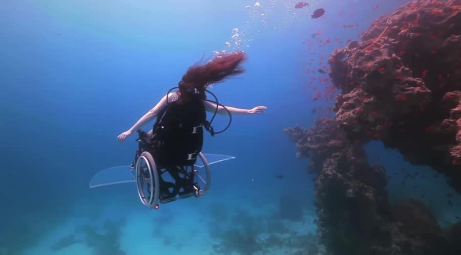 underwater wheelchair sue austin