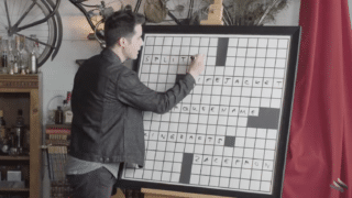 How does a cruciverbalist create crossword puzzles?