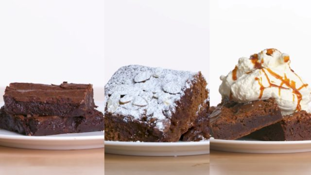 4 levels of brownies, from amateur to food scientist