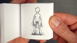 Disintegrating Flipbook by Andymation