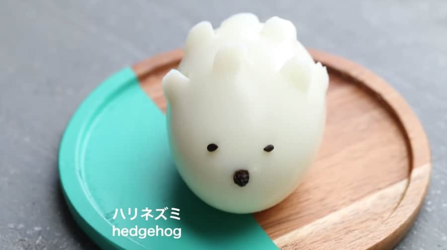 cute egg hedgehog