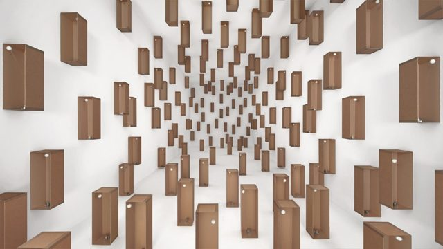 Sound sculpture installations by Zimoun