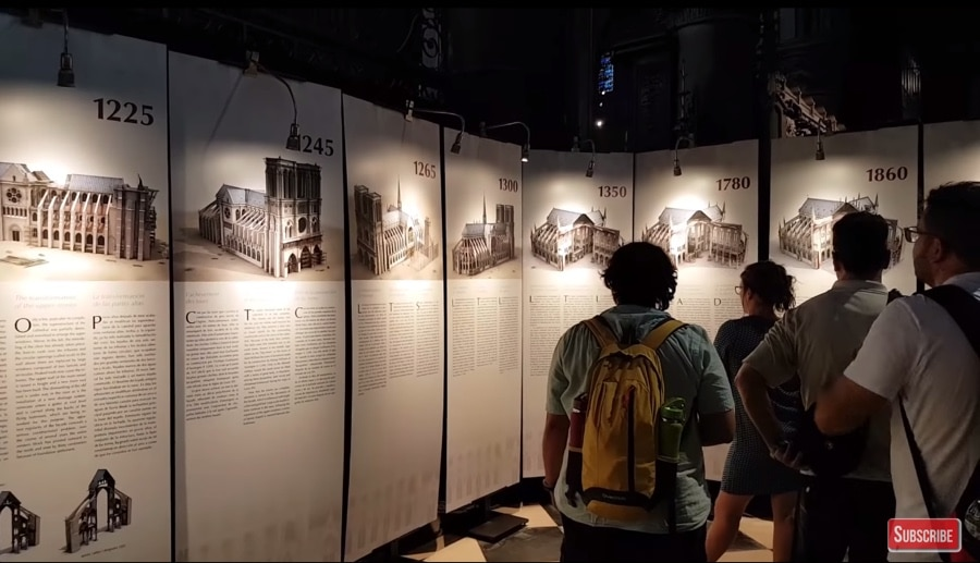 notre dame history displays