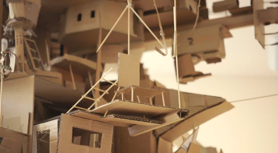 Aquilizan cardboard homes closeup
