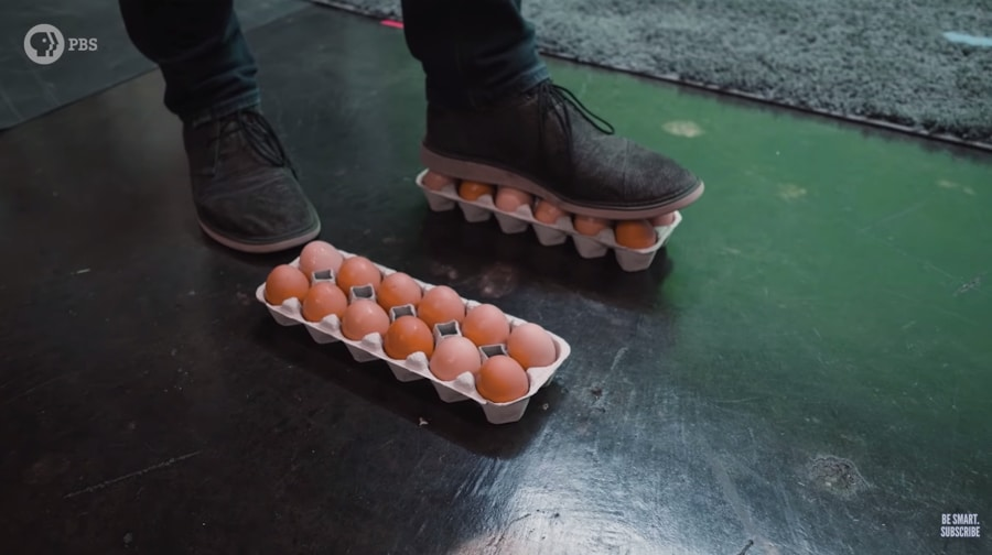 standing on two dozen eggs