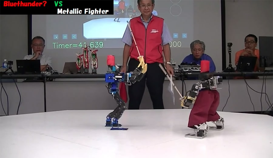 robo one bipedal sword fight