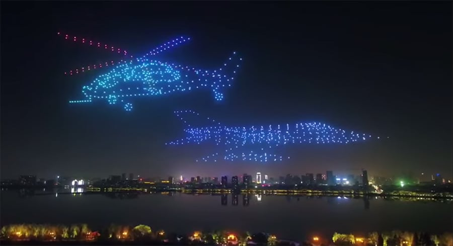 LED drones