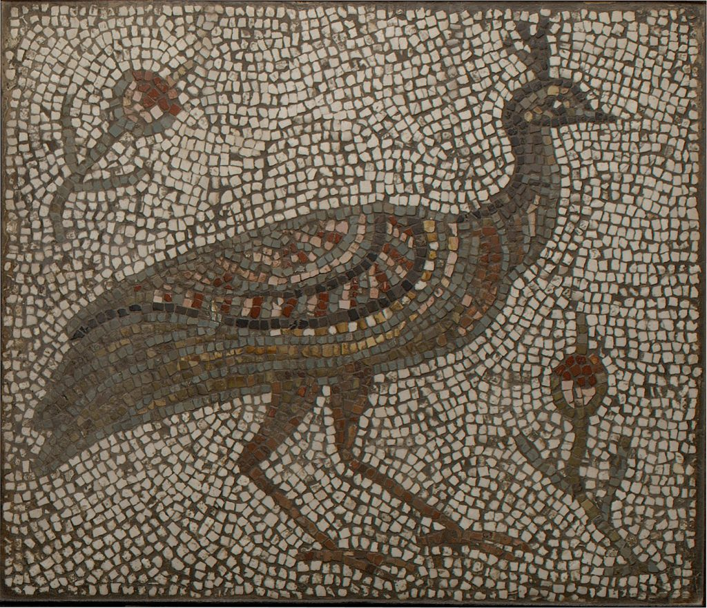 Mosaic with a Peacock and Flowers (The Met)