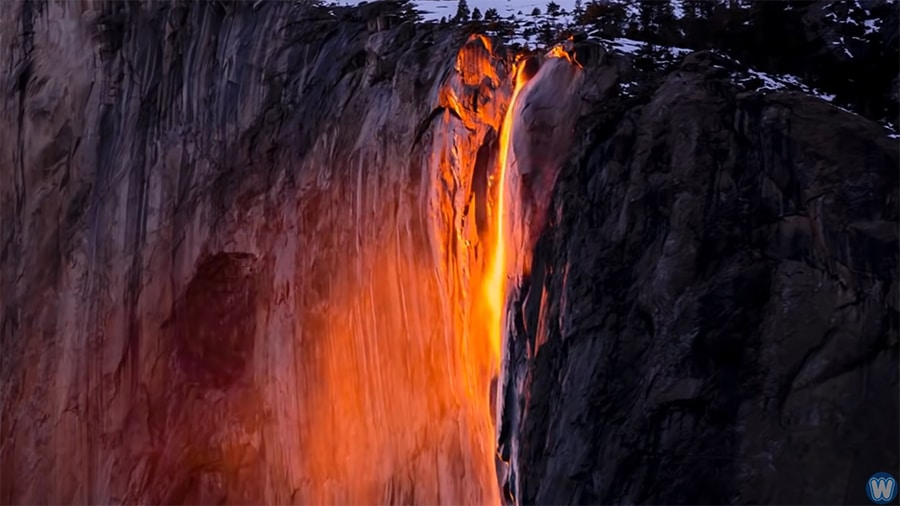 Yosemite's glowing Firefall: Why does it happen?