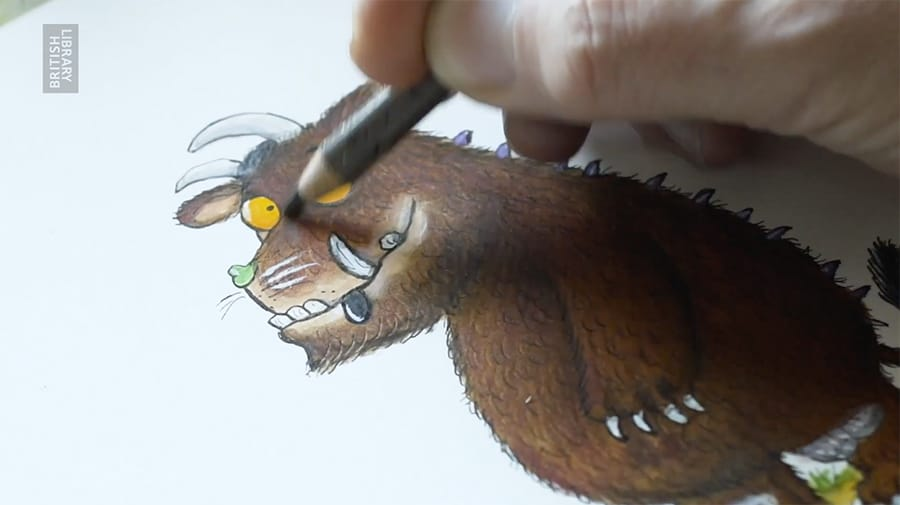 how to paint the gruffalo