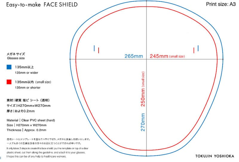 free face shield template