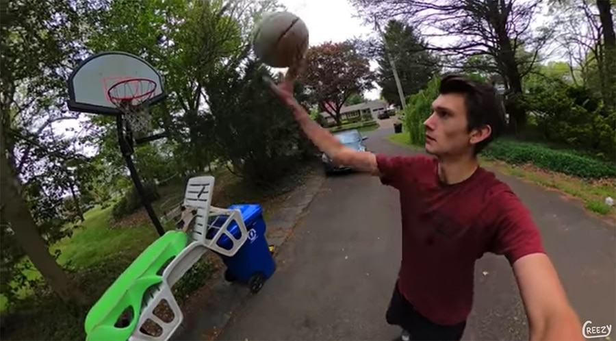creezy basketball trick shot
