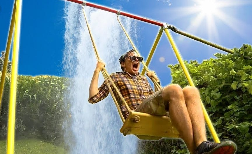 Building a waterfall swing from scratch | The Kid Should See This