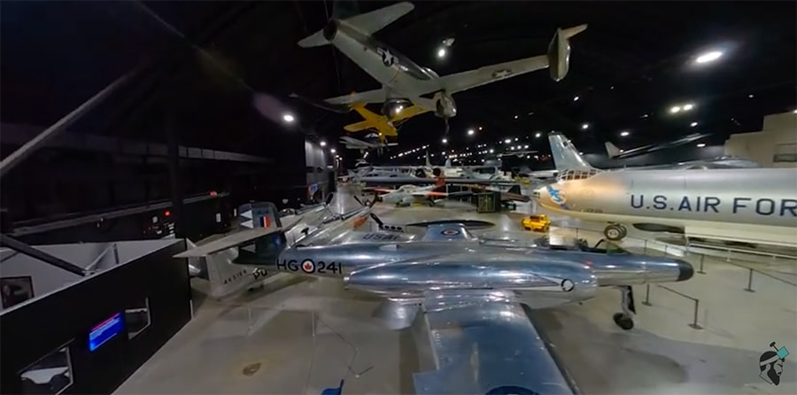 drone tour of the usaf museum