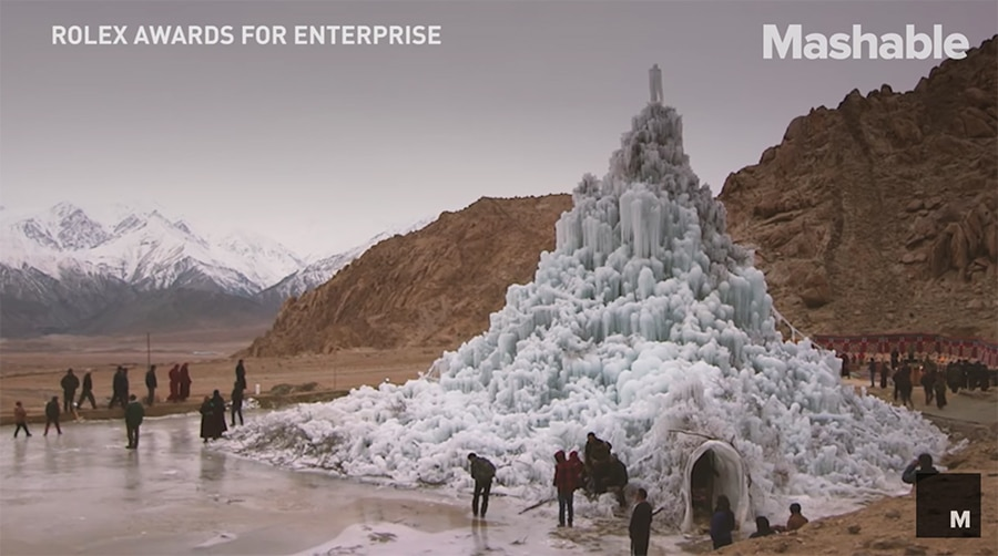 ice stupa artificial glacier project