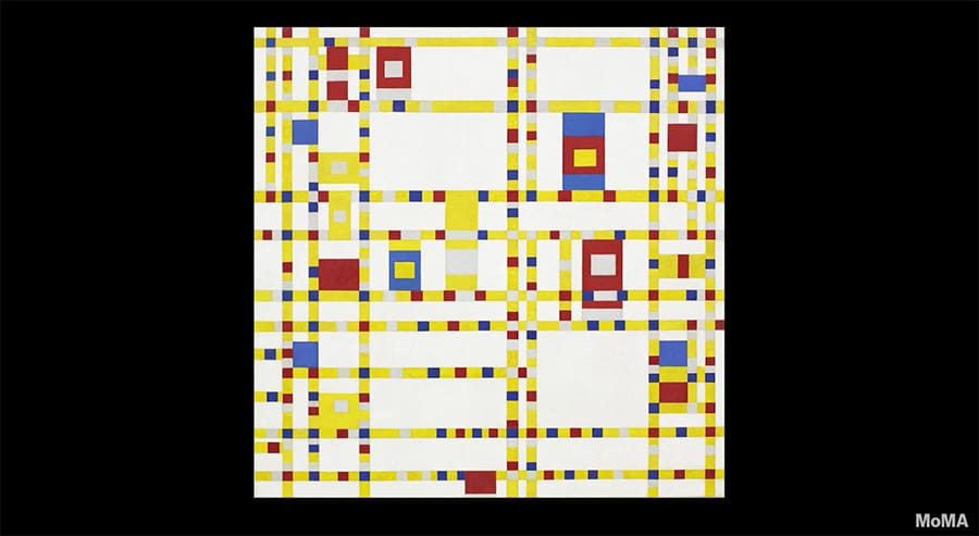 mondrian's boogie woogie influence at moma