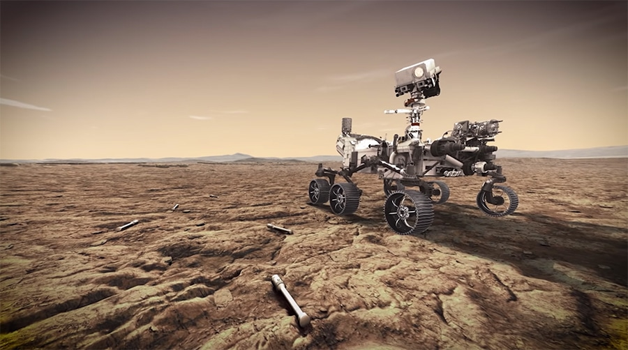 Perseverance mission - leaving sample tubes on the surface of Mars