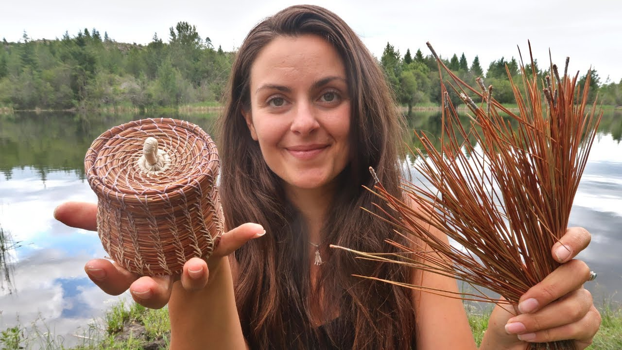 How to weave pine needle baskets | The Kid Should See This