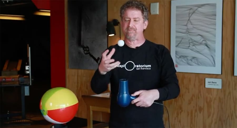 balancing ball demonstration