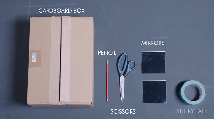 what to use to build a cardboard periscope