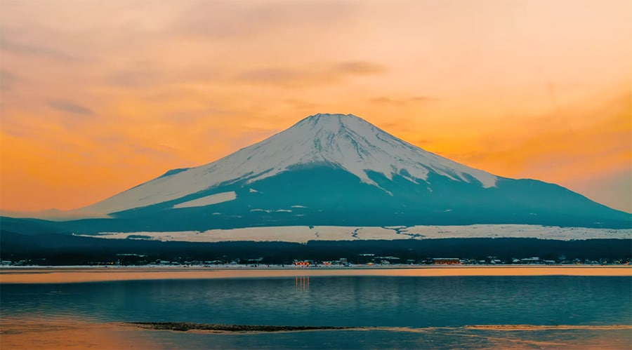 Mt Fuji with snow