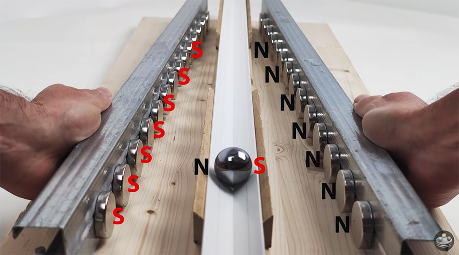 magnet track configurations