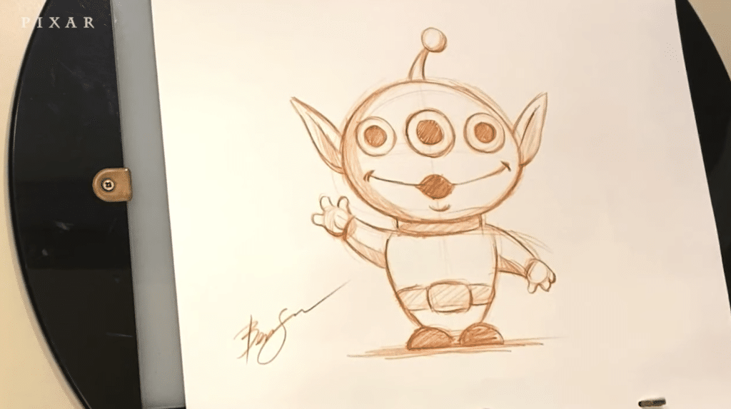 drawing the toy story aliens