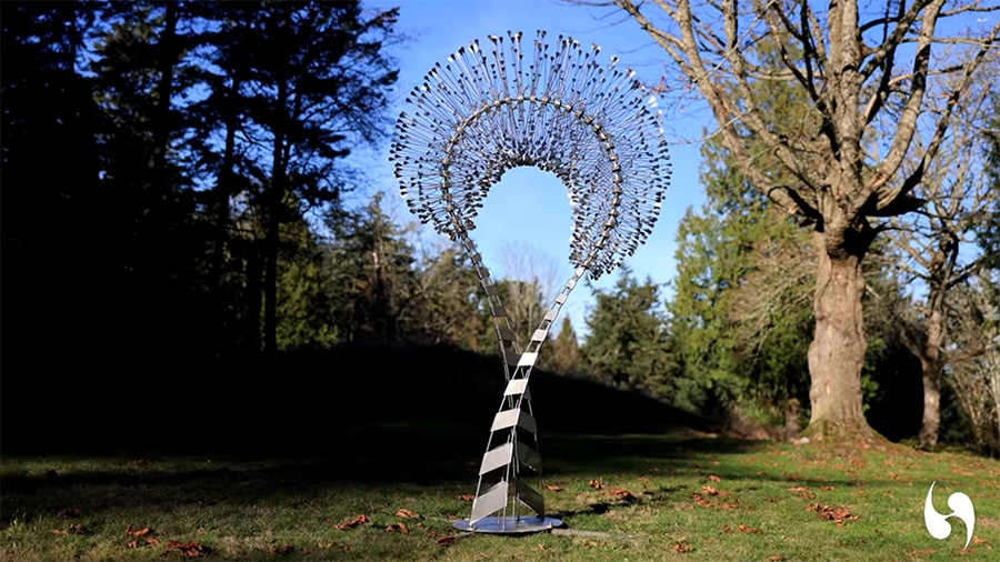finished wind sculpture