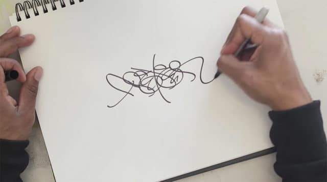 drawing tag-style letter forms
