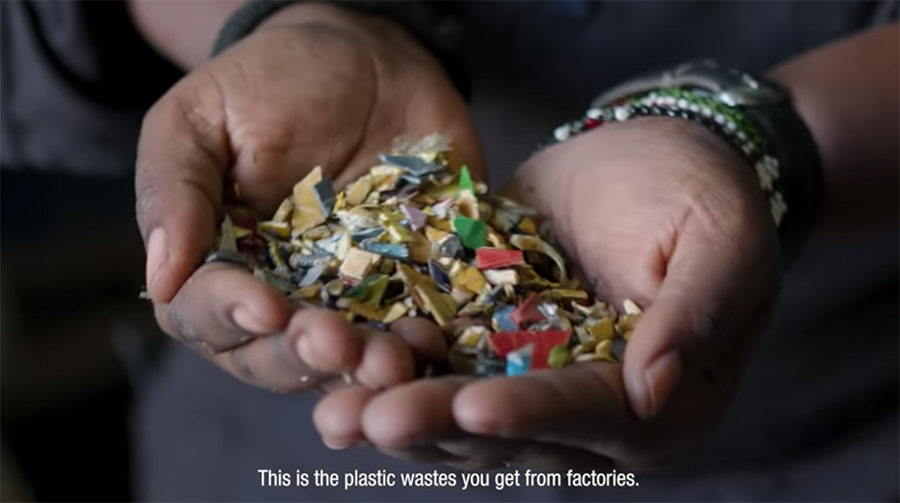 plastic bits that will be recycled