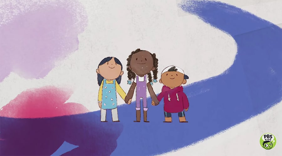 Animated kids for Talking Gets Us There