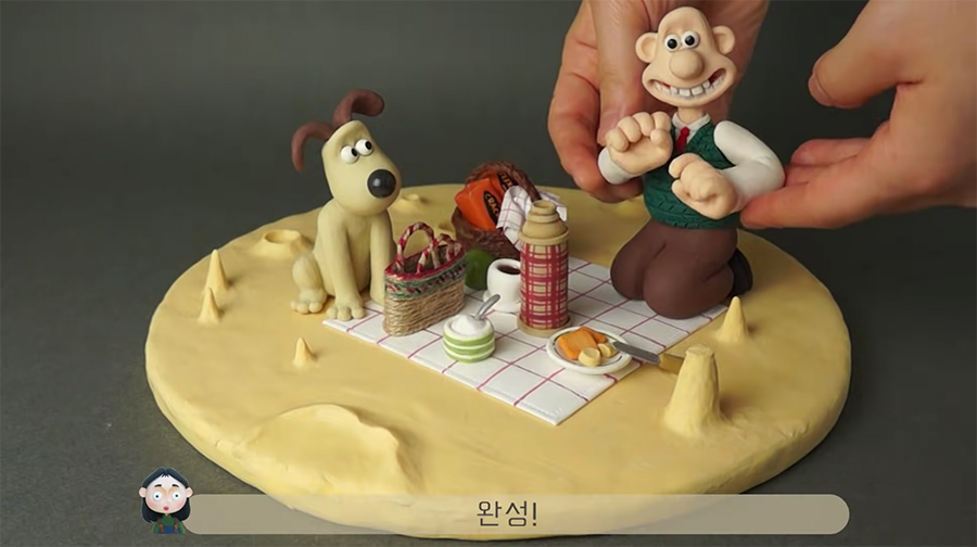 Wallace and Gromit in plasticine