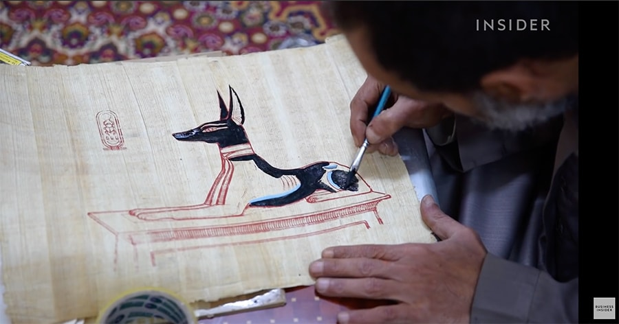 painting on papyrus