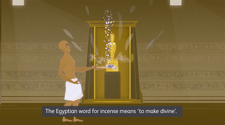 incense's meaning in the temple