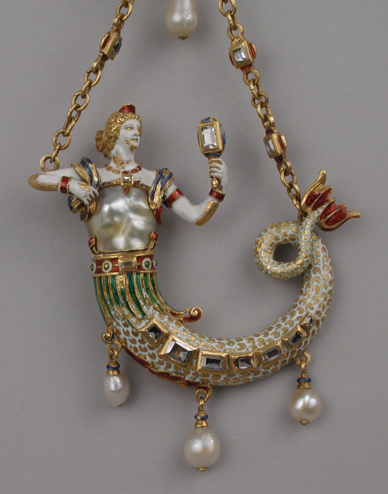 Pendant in the form of a mermaid ca. 1870–95