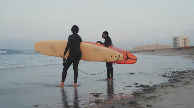 talking about the surf