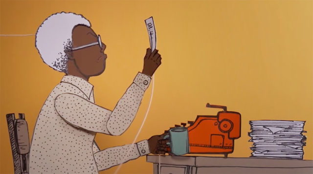 Gwendolyn Brooks in paper puppet form