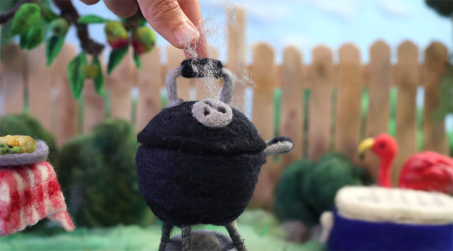 felted bbq grill