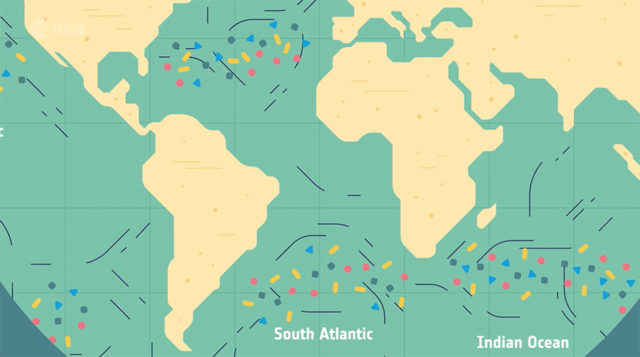 tracking plastic accumulation from space
