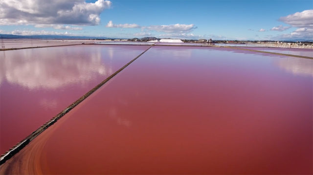 salt ponds drone video by Ghost Deini on YouTube