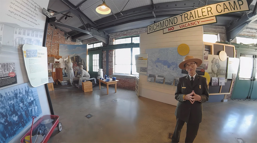 Betty Reid Soskin at the Rosie the Riveter Museum