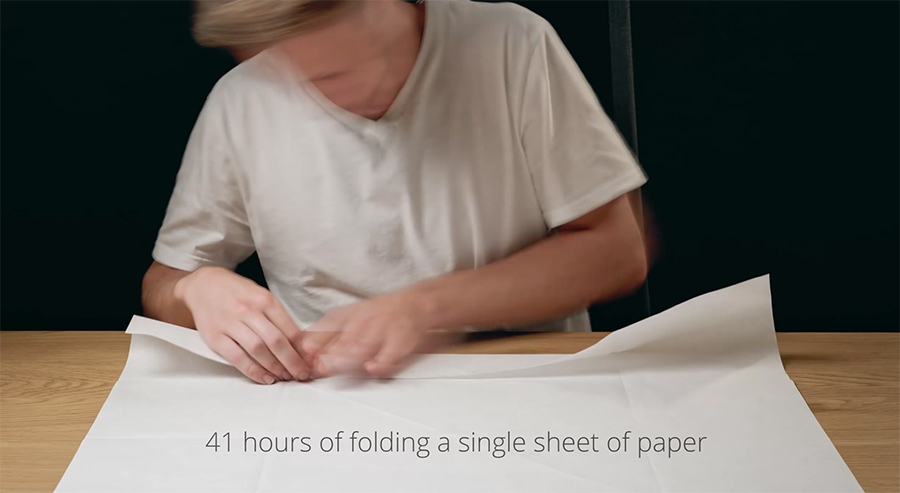 starting with a single sheet of paper