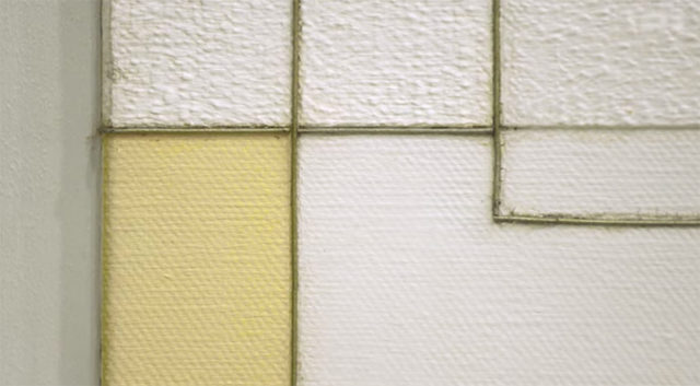White and Yellow by Marlow Moss, detail image